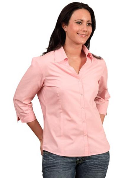 Ladies-Three-Quarter-Sleeve-Shirt