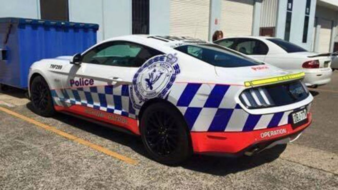 NSW Police Ford Mustang spied