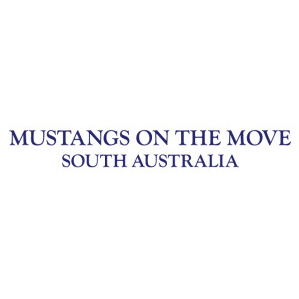 Mustangs On The Move Merchandise Back Logo